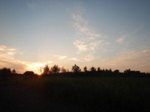 天塩大橋からの夕焼け