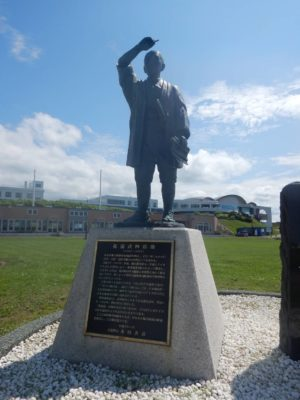 松浦武四郎の像