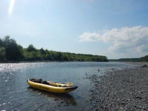 広い川原を見つけた