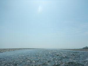 歴舟川 河口付近