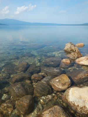 屈斜路湖の水はキレイ