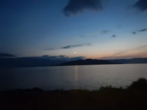 屈斜路湖の夕陽