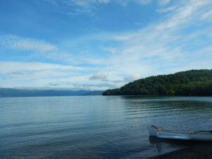 和琴キャンプ場からの屈斜路湖