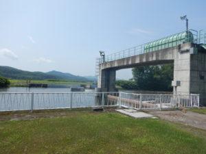 天塩川の堰
