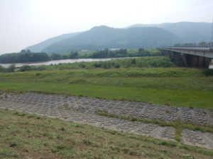 天塩川 音威子府 13年前のキャンプ地