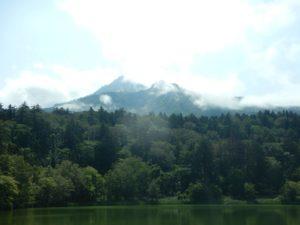 姫沼から見る利尻山