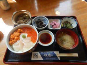 ウニイクラホタテ丼定食