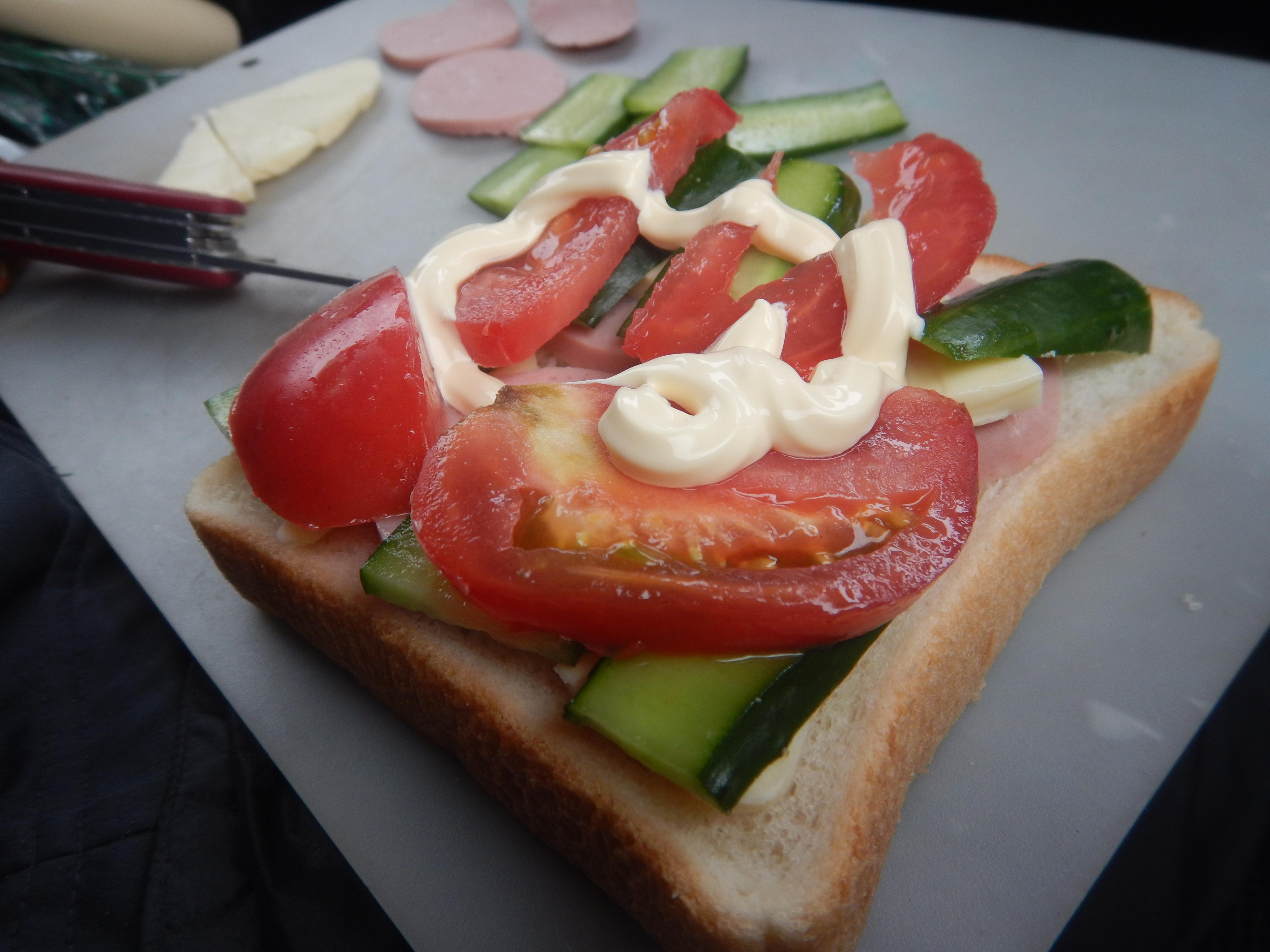 ハムチーズトマトサンド-2